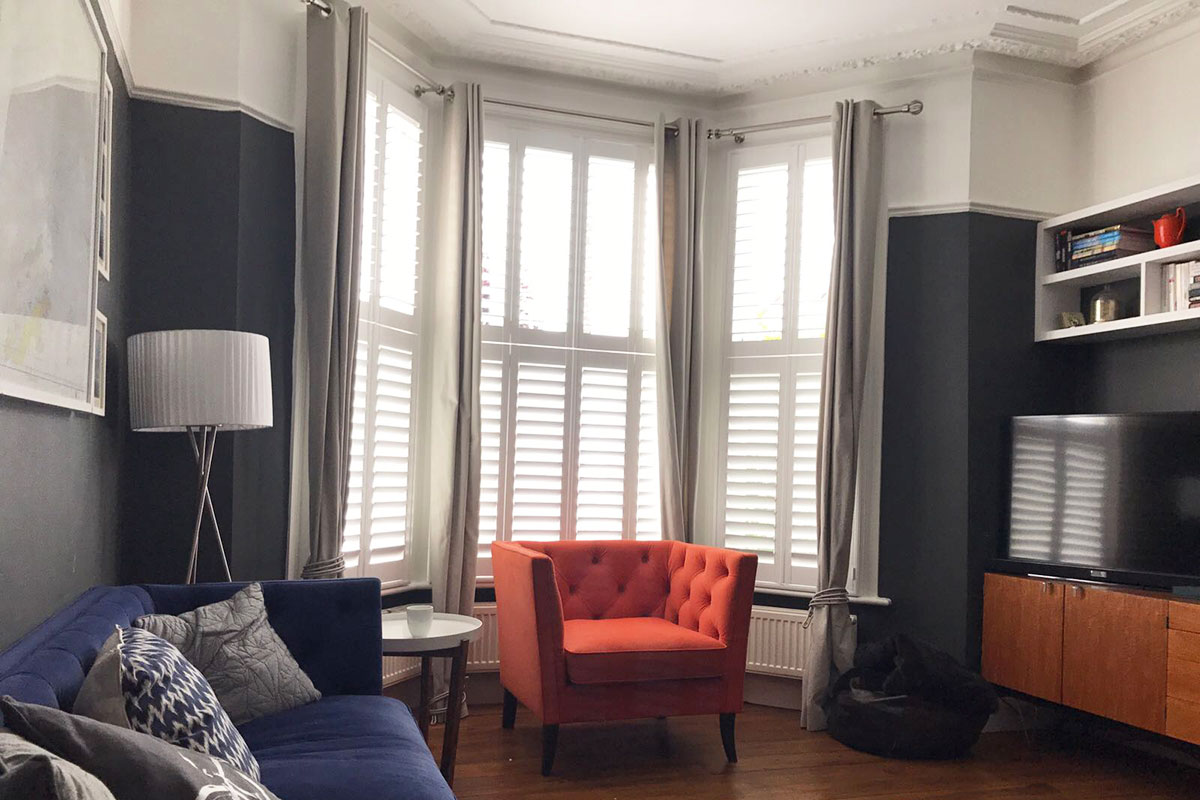 Home shutter gallery tier on tier shutters tier on tier shutters - Go To Our Shutter Gallery To See All Photos Pre Christmas Delivery Cut Off Shutters Shutter Styles Full Height Cafe Style Tier