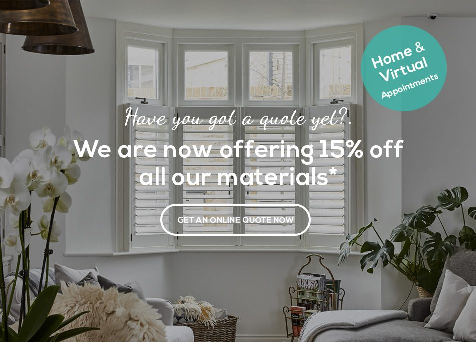 25% Off all our materials by Plantation Shutters Ltd