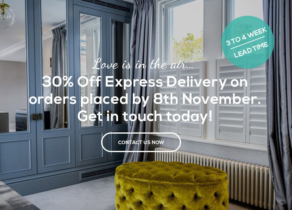 30% Off Express Delivery by Plantation Shutters Ltd