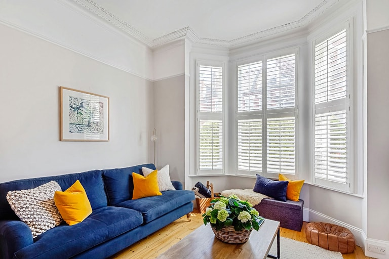 Bay Window Shutters by Plantation Shutters Ltd London
