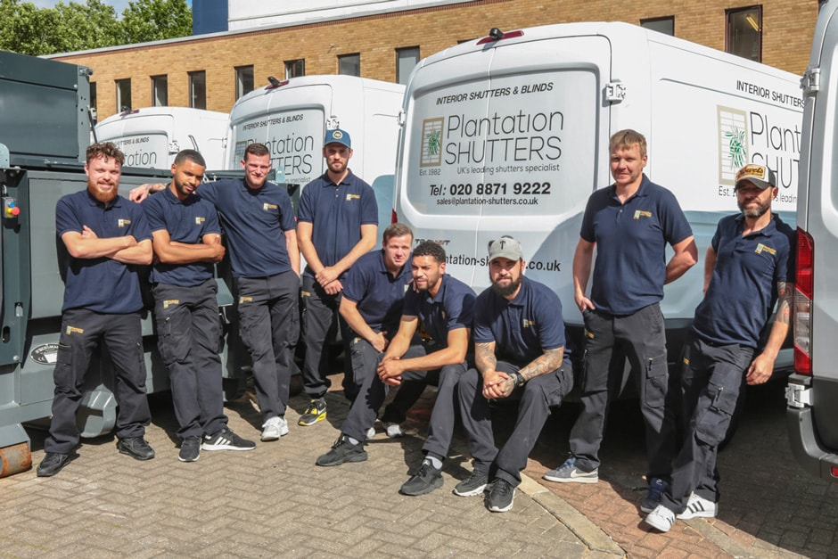 Fitting Team at Plantation Shutters Ltd - We are your local shutter experts