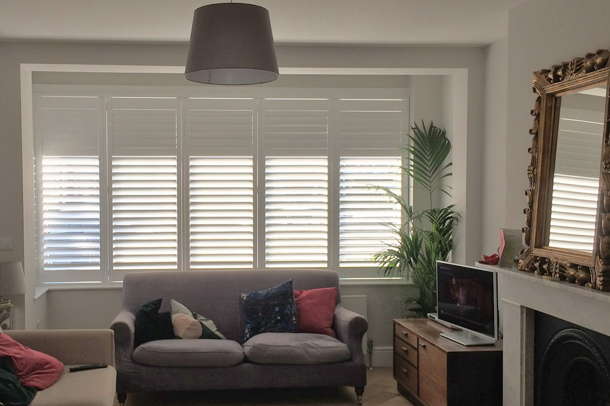 Living Room Shutters In Lewisham Plantation Shutters