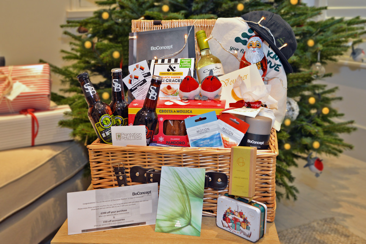 Follow us on Social Media and win a Christmas Hamper by Plantation Shutters Ltd