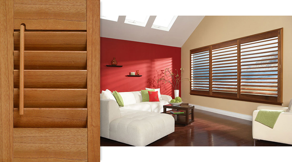 Pearlwood Shutters for Living Room Windows