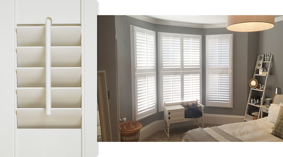 White Teak Shutters by Plantation Shutters Ltd