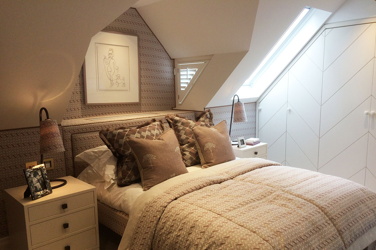 Special Shaped Shutters in the Bedroom