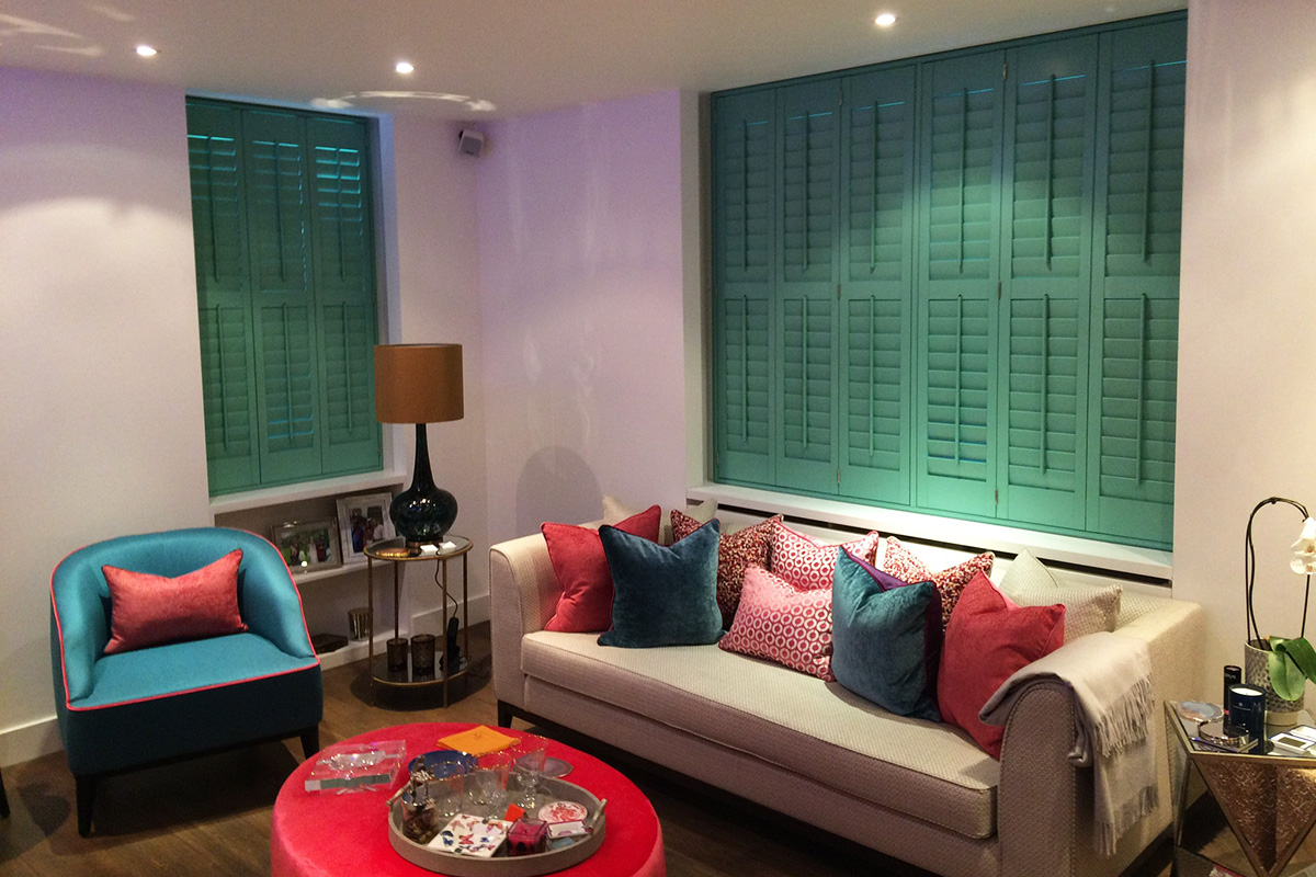 Custom Colour Shutters in Notting Hill