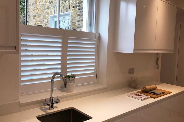 Plantation Shutters Kitchen Window