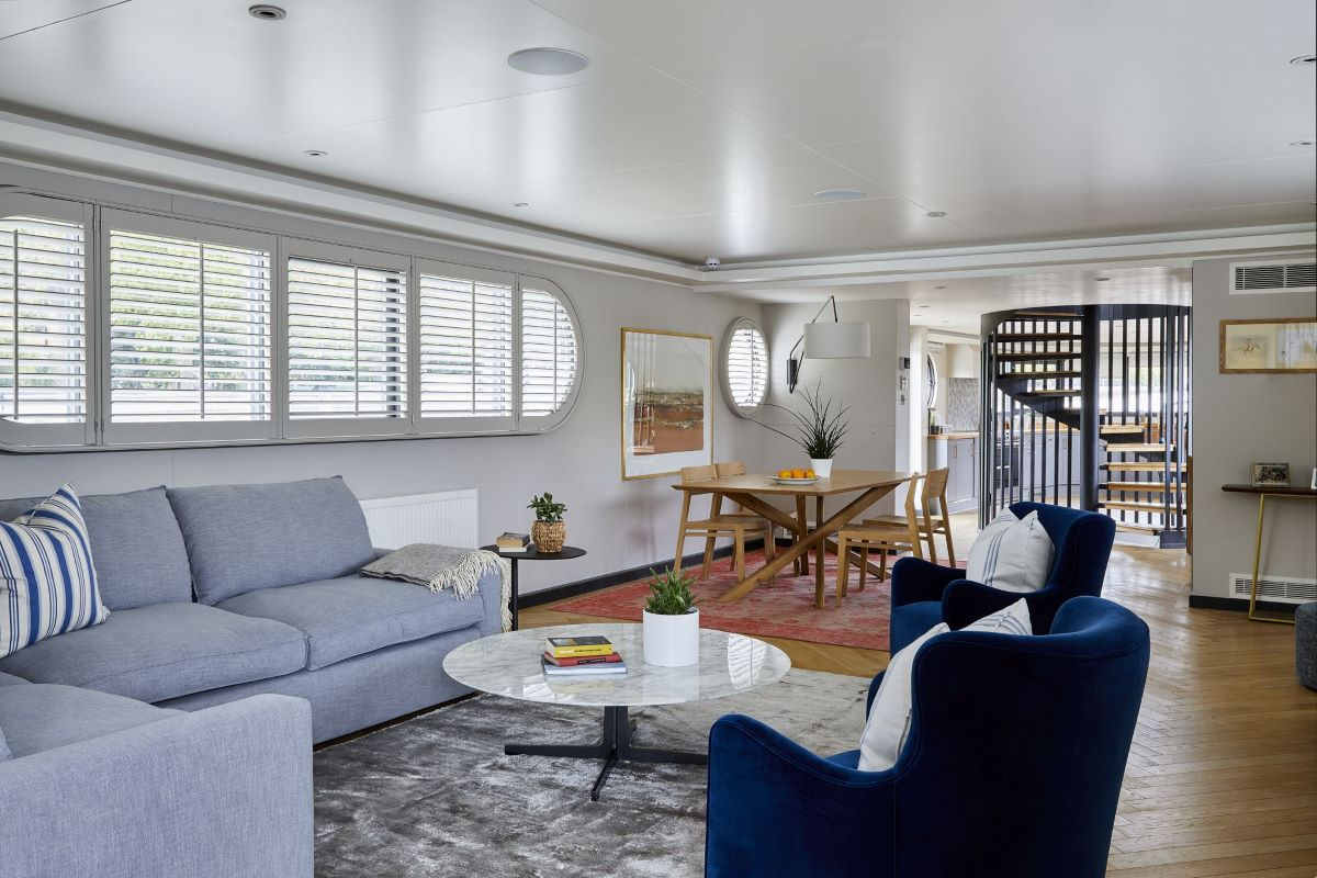 Living Room Taupe Grey Shutters by Plantation Shutters Ltd.jpg