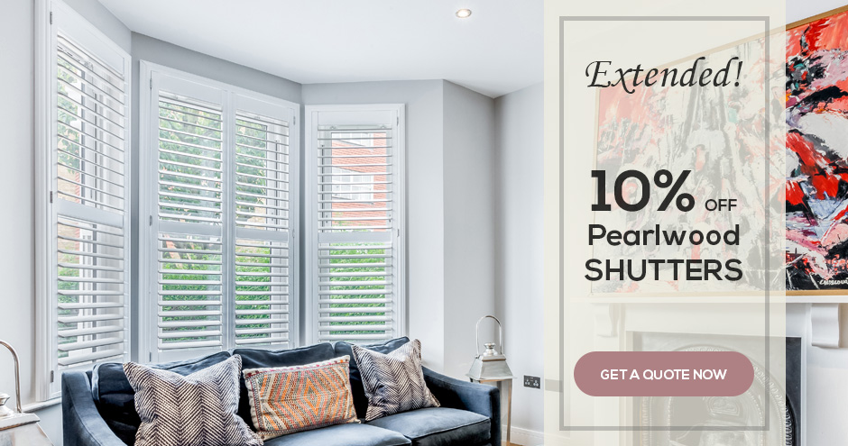 10% Off Pearlwood Shutters by Plantation Shutters Ltd