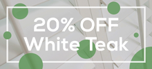 Summer Promotion - 20% OFF White Teak Shutters