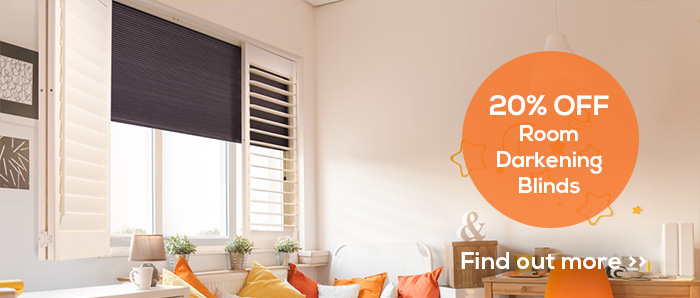 20% OFF Room Darkening Blinds by Plantation Shutters Ltd