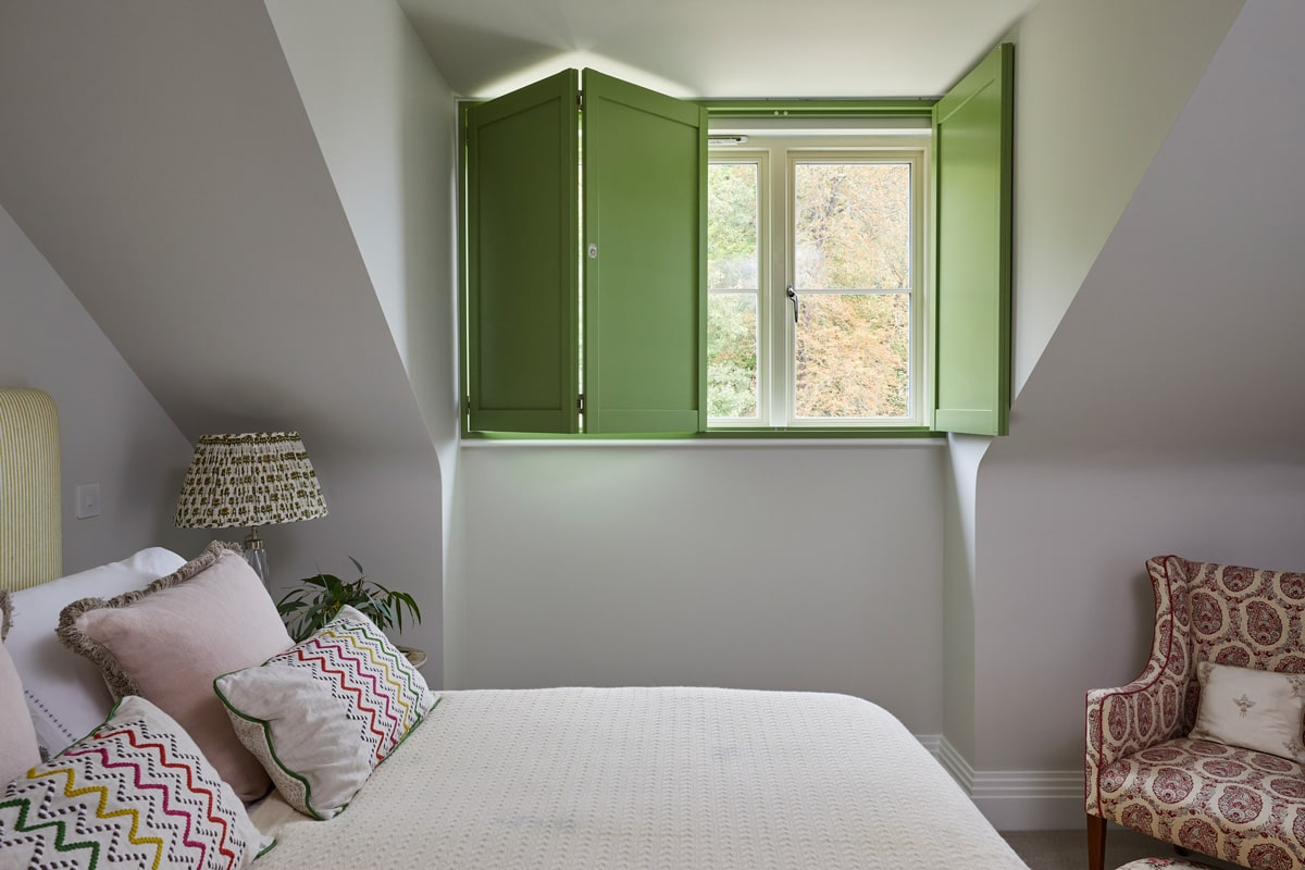 Solid Panel Shutters for Bedroom Windows by Plantation Shutters Ltd
