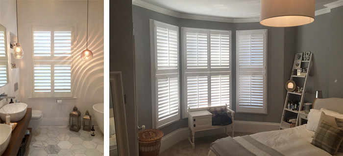 Tier on tier shutters for sash & bay windows