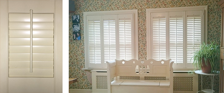 Traditional Style With Centred Tilt Rod By Plantation Shutters Ltd
