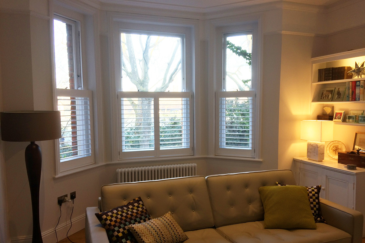 Cafe Style Shutters in Maida Vale | Plantation Shutters