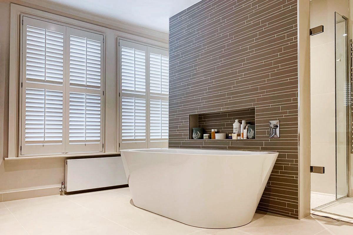 Wimbledon Bathroom by Plantation Shutters Ltd