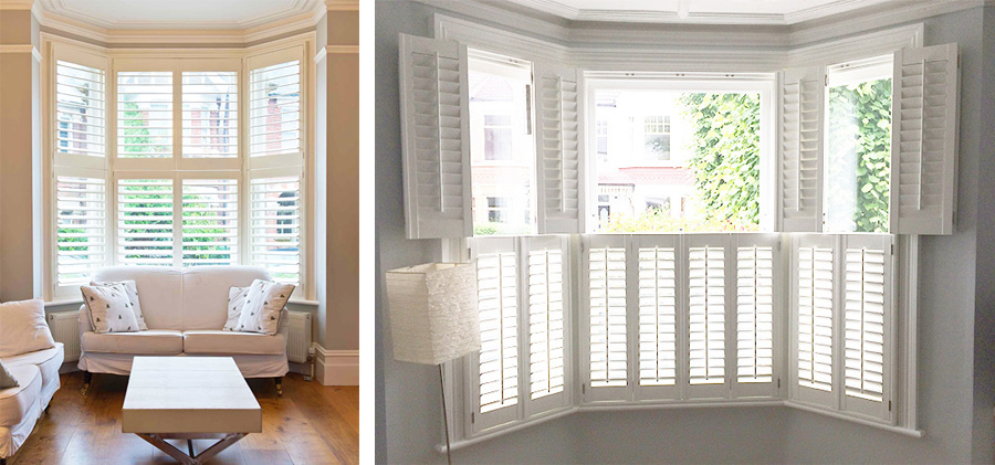 Bay Window Shutters Wooden Plantation