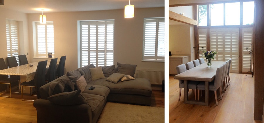 Dining Room Shutters by Plantation Shutters Ltd
