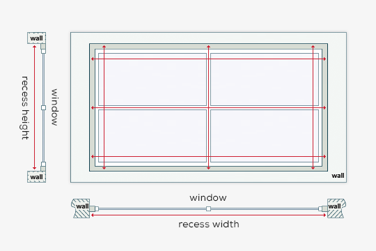 How to measure a recess window
