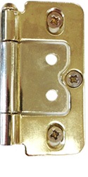 Bright Brass Hinges by Plantation Shutters Ltd