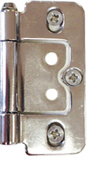 Nickel-Plated Hinges by Plantation Shutters Ltd