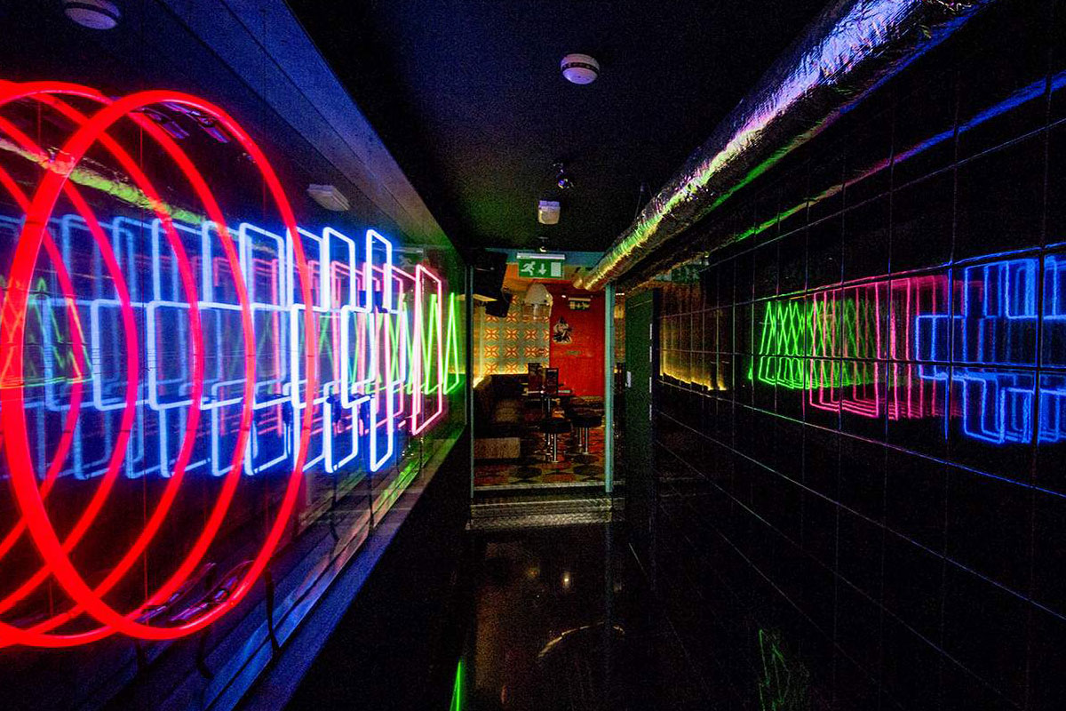 Nulty Lighting's work at Adventure Bar Clapham Junction