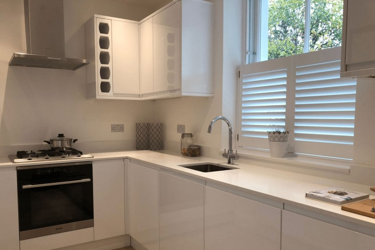 Cafe Style Shutters in the Kitchen