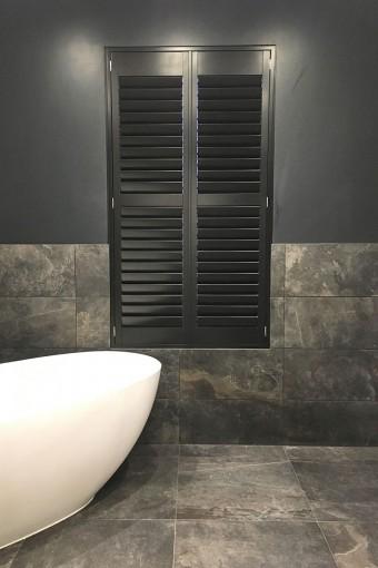 Bathroom Full Height Shutters by Plantation Shutters Ltd
