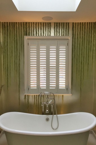 Bathroom Full Height Shutters by Plantation Shutters Ltd