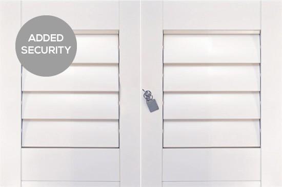 Aluminium Security Shutters by Plantation Shutters Ltd