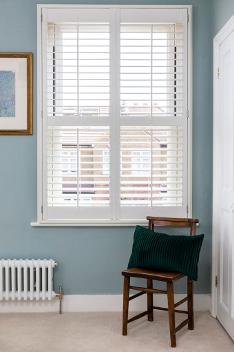 Full Height Shutters in the Bedroom