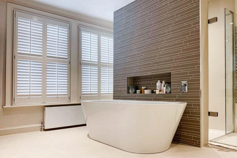 Wimbledon Bathroom by Plantation Shutters Ltd