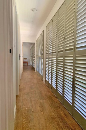Hallway shutters by Plantation Shutters Ltd