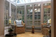 Full Height Shutters in a Conservatory