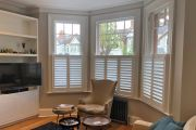 Cafe Style Shutters in a Living Room