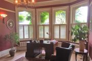 Cafe Style Shutters in a Home Office