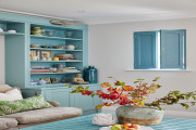 Solid Panel Shutters for Living Room Windows by Plantation Shutters Ltd
