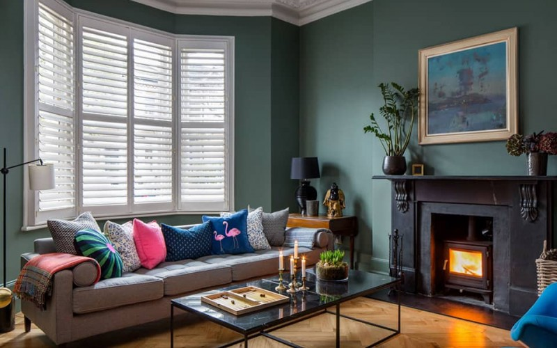 Christmas Cut off shutters by Plantation Shutters Ltd