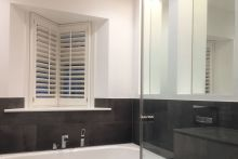 Special Shaped Full Height Shutters in the Bathroom