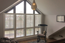 3/4 Cafe Style Shutters in the Living Room
