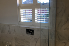 Cafe Style Shutters in a Bathroom