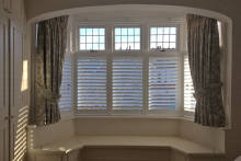 Cafe Style Shutters In Bedroom