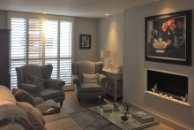 Full Height Shutters in the Living Room