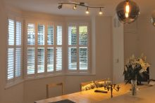 Full Height Shutters in the Dining Room