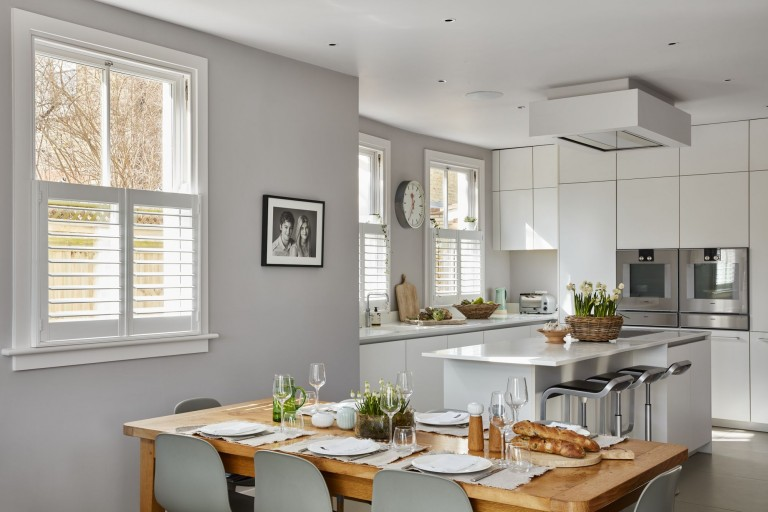 Kitchen Cafe Style Shutters by Plantation Shutters Ltd