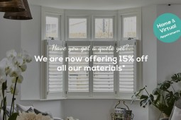 Up to 10% OFF selected products on all orders placed by 6th December by Plantation Shutters Ltd
